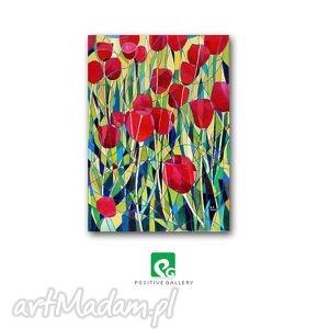 obrazy tulipany iv akryl na płótnie, tulipany, kwiaty, płótno, obraz,
