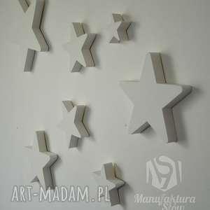 gwiazdki zestaw 5szt 20cm - gwiazdka, 3d, dekoracja