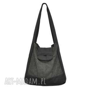 01-0004 Szara torba worek na zakupy HUMMING-BIRD MAXI, duże-torebki-worki