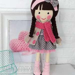 malowana lala magdalena z weŁnianym szalikiem - lalka, zabawka, przytulanka, prezent