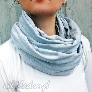 komin damski jasny szary melanż - szalik