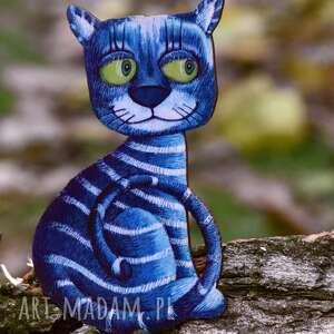 kotełek niebieski - magnes na lodówkę, dekoracja ze sklejki, lodówkę