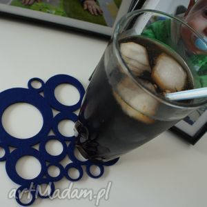 podkładki filcowe bubbles 6szt, filc, podkładka, filcowa
