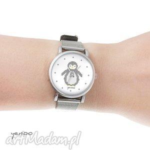 yenoo zegarek, bransoletka - pingwin dziergany mały, pingwin