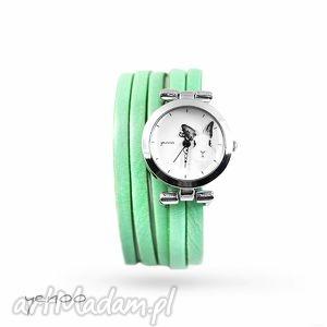 Prezent Zegarek, bransoletka - Królik zielony, zegarek, królik, skórzany, zając
