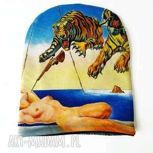 Czapka dali czapki katarzyna staryk abstrakcja, tygrys, naga