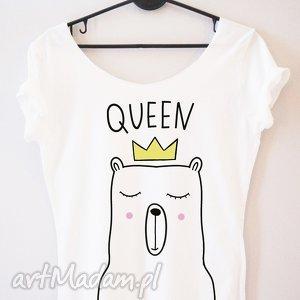koszulki bluzka ad70 queen, dla-niej, koszulka, królowa, prezent