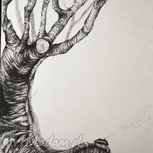 klimatyczny rysunek piórkiem domek artystki plastyka adriany laube, baśniowy