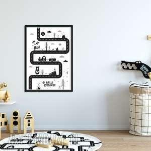 plakat a3 droga, auta, auto, skandynawski, pod choinkę prezenty