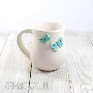 kubek ceramiczny motyle, dzień kobiet, prezent, walentynki, do kawy, zwierzęta