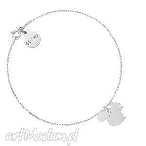 srebrna bransoletka z wiewiórka, bransoletka, srebro, animals, łancuszkowa