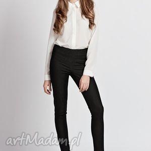Doasowane spodnie, sd101 czarny spodnie lanti urban fashion