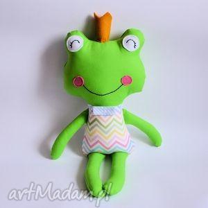 żabka - książę dla p michała, żabka, kolorowa, zabawka, maskotka, przytulanka