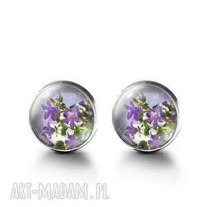 Kolczyki sztyfty - fioletowy kwiat liliarts kolczyki, sztyfty