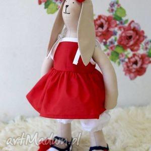 króliczka marcysia - królik balerinki, miś, ubranka, lalka