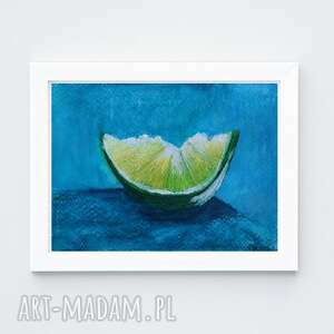 limonka-akwarela formatu 12,5/18 cm, akwarela, papier, limonka