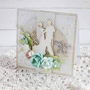 Kartka ślubna w pudełku, 422 - ,ślub,wesele,kartka,