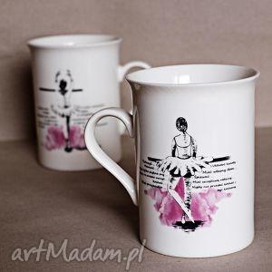 kubeczek z baletnicą, kubek, ceramika, baletnica, prezent, dziewczęcy, tancerka
