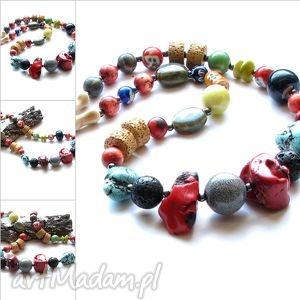 koraletribal mix - nszyjnik, korale, kamienie, biżuteria, tribal, awangarda