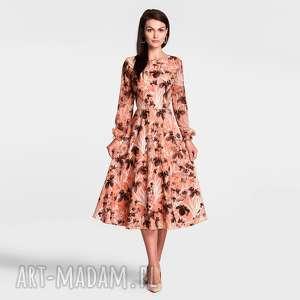 sukienka aniela total midi dominique, jesienna