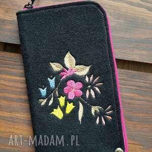 etui filcowe na telefon - rajskie kwiaty, smartfon, pokrowiec, kwiatowy