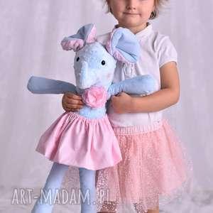 ateliermalegodesignu przytulanka dziecięca słoń w spódniczce, pomysł na prezent