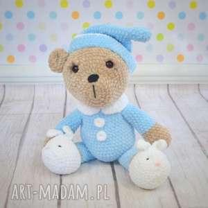 miś śpioch, piżamka, miś, czapeczka, prezent, przytulanka, chłopiec
