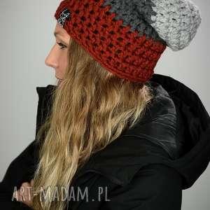 czapka triquence 26 - rdzawa, czapa, snowboard, narty, unisex, prezent