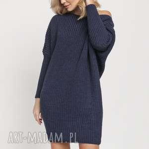 oversizeowa tunika, swe189 jeans mkm, sweter, modna, dzianina, jesień