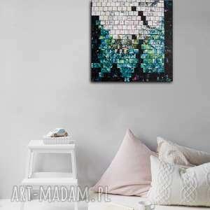 abstrakcja_1, abstrakcja, mozaika, akwarela, akryl, blejtram, pejzaż
