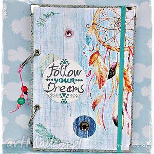 łapacz snów - niekończący się notatnik, pamiętnik, łapacz, snów, marzenia