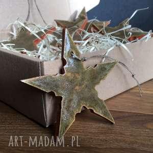handmade pomysł na upominek święta ceramiczne gwiazdki choink&#281