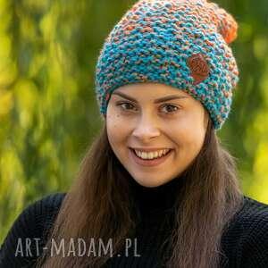 hand-made czapki neverland cieniowany pomarańczowe błękity