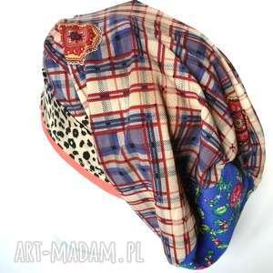 ręcznie zrobione czapki czapka damska panterka kwiatowa rower etno