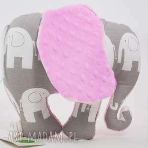 Słoń SŁONIKI róż, przytulanka, maskotka, słoń, słonik
