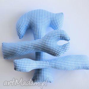 ręczne wykonanie zabawki zestaw małego majsterkowicza - błękitna krata