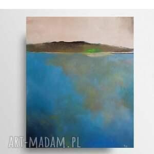 drugi brzeg-obraz akrylowy formatu 50/60 cm, obraz, akryl, pejzaż