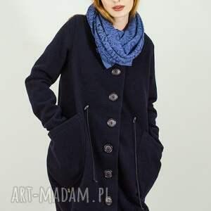 wełniany płaszcz zapinany na guziki, płaszcz, maxi, wełniany, ciepły, jesienny