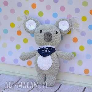 Szydełkowy miś koala - Eukaliptuś , koala, miś, szary, szydełkowy, misek