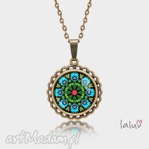 medalion okrągły mały otok, polski, folklor, ludowy, wzór, wycinanka, prezent
