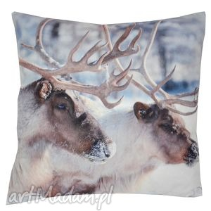 poduszka dekoracyjna renifery, dekoracyjna, świąteczna