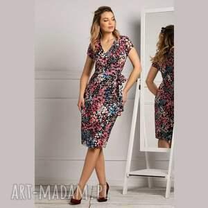 sukienki sukienka ivonne ii midi miranda, midi, w kwiaty, dopasowana, ołówkowa