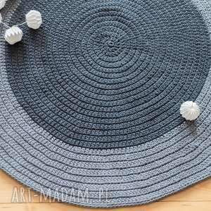hand-made dywany dywan 110 cm ze sznurka bawełnianego