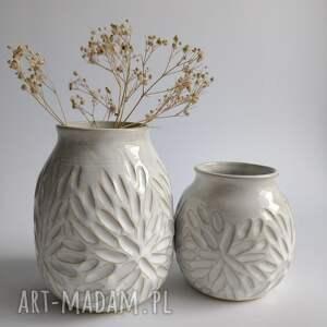 zestaw z dwóch wazonów ceramicznych, wazon, wazon na kwiaty, ceramika