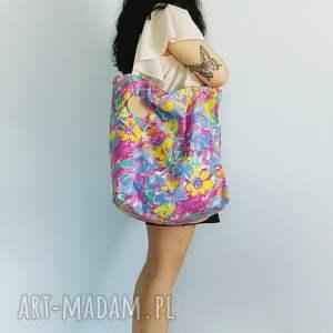 torba w kwiaty xxl, torba, torebka, kwiaty, vintage, xxl