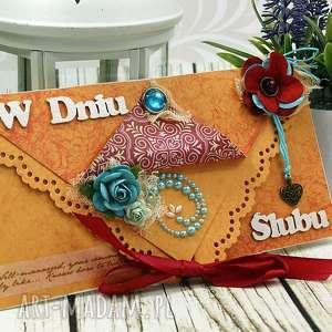 kopertówka śluna- orientalnie w turkusach - ślub, wesele, kartka