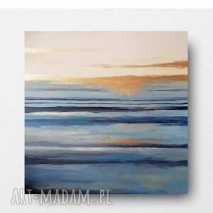 morze-obraz akrylowy formatu 90/90 cm, pejzaż, obraz, płótno, morze, nowoczesny