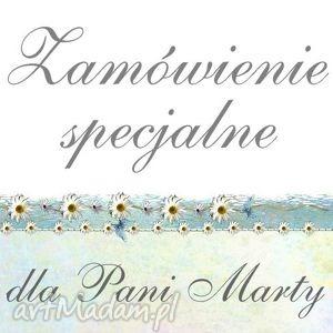 zamówienie specjalne - dla pani marty, zaproszenia, winietki, kszięga