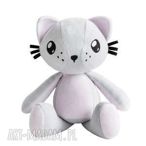 ręczne wykonanie maskotki kot przytulanka poofy cat plushee