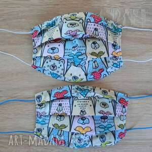 maseczki bawełniane zestaw 2 sztuki, maseczki, bawełniane, twarz, maseczka